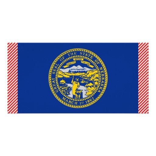 Nebraska Flag Picture Card