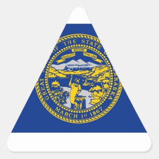 Nebraska Flag Triangle Sticker