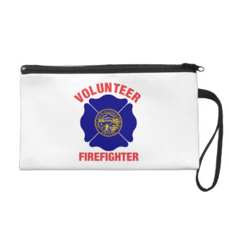 Nebraska Flag Volunteer Firefighter Cross Wristlet Purse