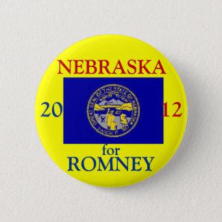 Nebraska for Romney 2012 6 Cm Round Badge