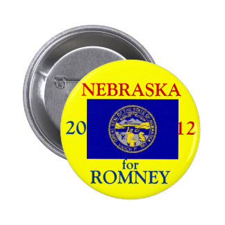 Nebraska for Romney 2012 6 Cm Round Badge