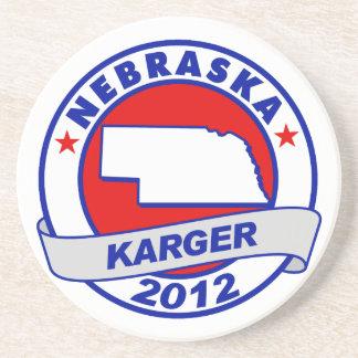 Nebraska Fred Karger Beverage Coasters