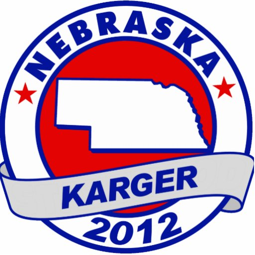 Nebraska Fred Karger Acrylic Cut Out