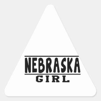 Nebraska girl designs triangle sticker