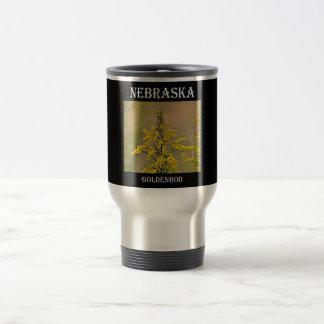 Nebraska Goldenrod Travel Mug