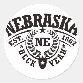 Nebraska, Heck Yeah, Est. 1867 Round Sticker