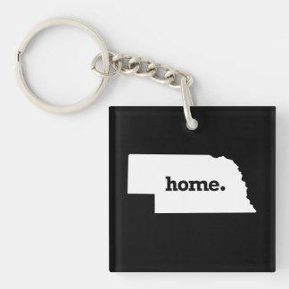 NEBRASKA HOME STATE -.png Key Ring