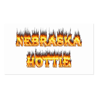 Nebraska Hottie fire and flames Pack Of Standard Business Cards
