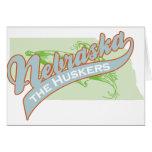 NEBRASKA HUSKERS GREETING CARD