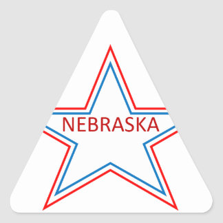 Nebraska in a star. triangle sticker