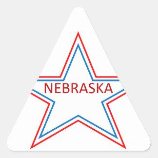 Nebraska in a star triangle stickers