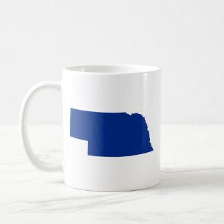Nebraska in Blue Coffee Mug
