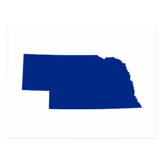 Nebraska in Blue Postcard