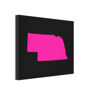 Nebraska in Pink Canvas Print