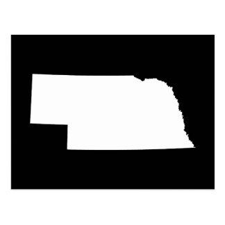 Nebraska in White Postcard