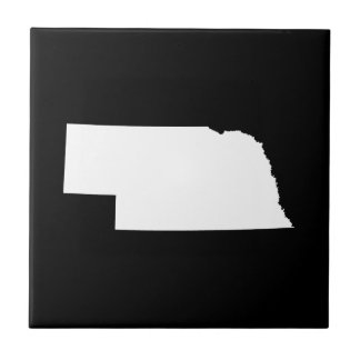 Nebraska in White Tile