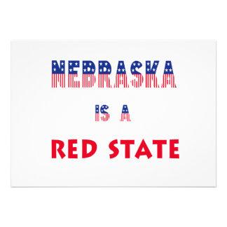 Nebraska is a Red State Invites