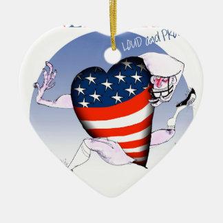 nebraska loud and proud, tony fernandes ceramic heart decoration