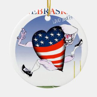 nebraska loud and proud, tony fernandes round ceramic decoration