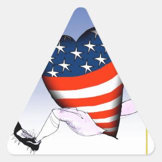nebraska loud and proud, tony fernandes triangle sticker