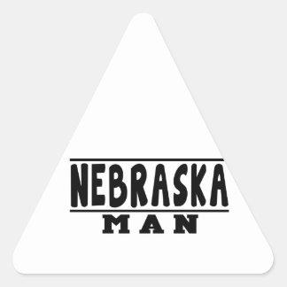 Nebraska Man Designs Triangle Sticker
