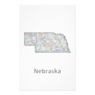 Nebraska map 14 cm x 21.5 cm flyer