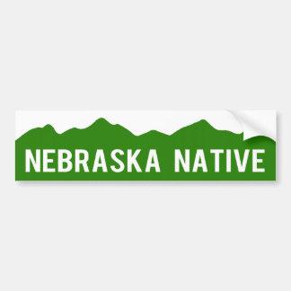 Nebraska Native - Colorado Mountains Sticker Bumper Sticker