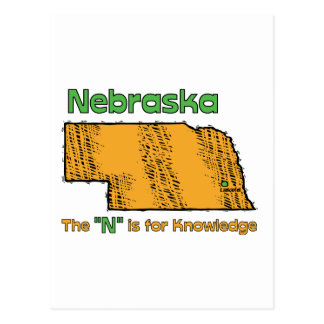"Nebraska NB US Motto ~ The ""N"" is for Knowledge Post Cards"