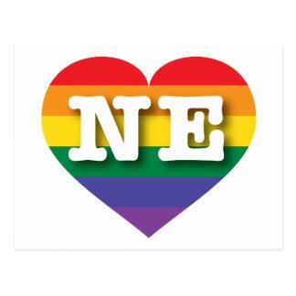 Nebraska NE rainbow pride heart Postcard