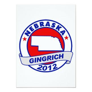 Nebraska Newt Gingrich Custom Announcements