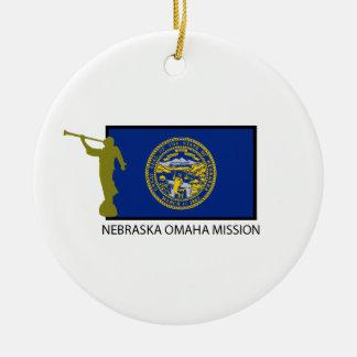 NEBRASKA OMAHA MISSION LDS CTR ROUND CERAMIC DECORATION