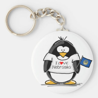 Nebraska penguin key ring