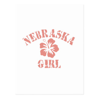 Nebraska Pink Girl Post Cards