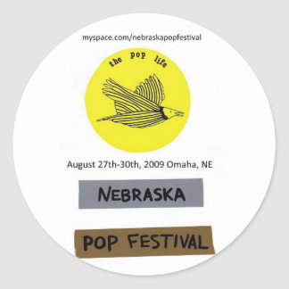 Nebraska Pop Festival sticker