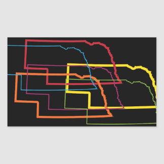 nebraska pride blur rectangular sticker