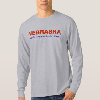 NEBRASKA PURPLE STATE T-Shirt