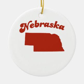 NEBRASKA Red State Ornament