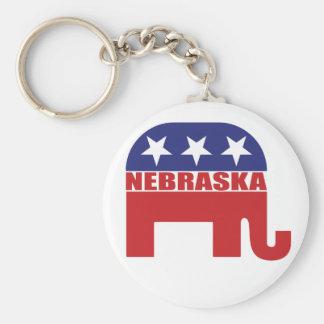 Nebraska Republican Elephant Key Ring