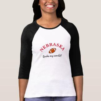 Nebraska Rocks Football T-Shirt