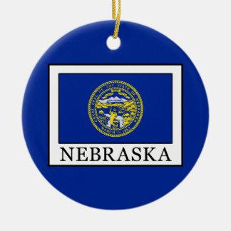 Nebraska Round Ceramic Decoration