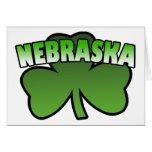 Nebraska Shamrock Greeting Card