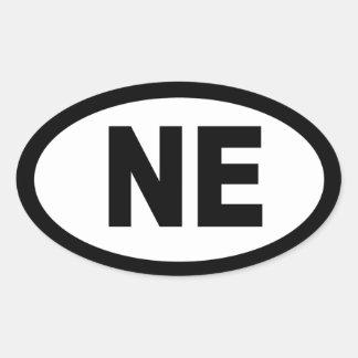 Nebraska - sheet of 4 oval car stickers
