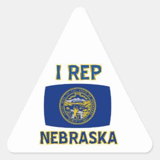 Nebraska State designs Triangle Sticker