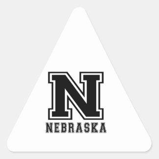Nebraska State Designs Triangle Stickers