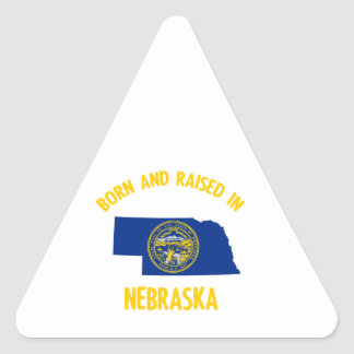 Nebraska state flag and map designs triangle sticker
