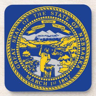Nebraska State Flag Coasters