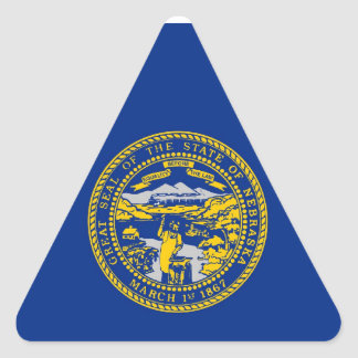 Nebraska State Flag Triangle Sticker