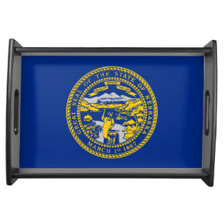 nebraska state flag united america republic symbol serving tray