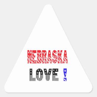 Nebraska State Love !!!! Triangle Sticker