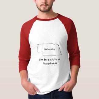 Nebraska state of happiness teeshirt map T-Shirt